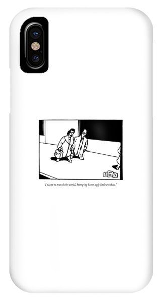 Two People Walk And Talk IPhone Case