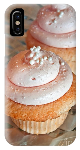Two Pink Cupcakes Art Prints IPhone Case