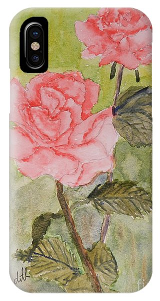 Two Pink Roses IPhone Case