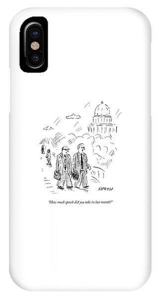 Two Politicians Speak To Each Other. The Capitol IPhone Case