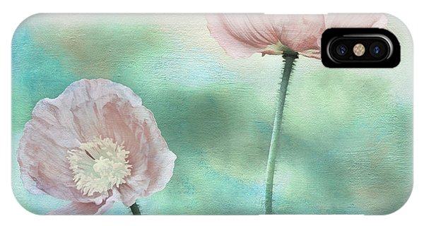 Two Poppies Textured Photograph Phone Case by Clare VanderVeen