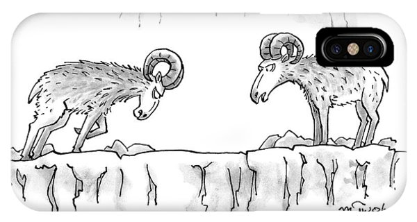 Two Rams Talk To Each Other IPhone Case