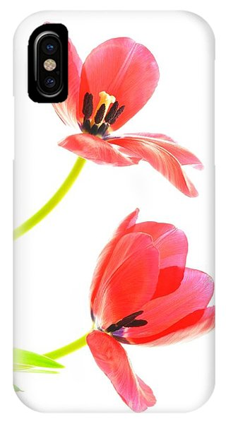 Two Red Transparent Flowers IPhone Case