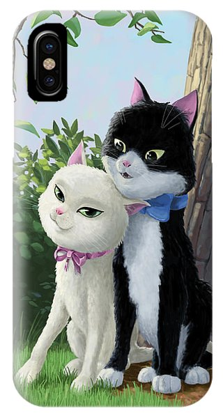 Two Romantic Cats In Love IPhone Case
