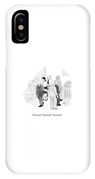 Two Rows Of Three People High Five Each Other IPhone Case