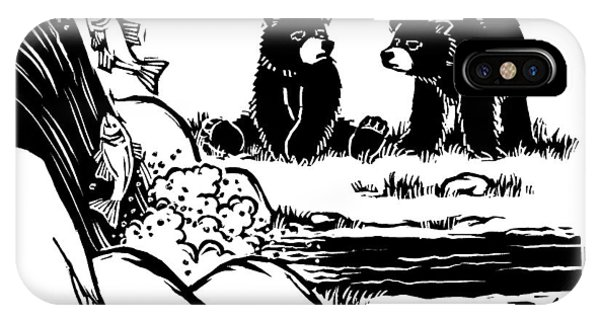 Two Sluggish Bears Converse By A Fish-filled IPhone Case