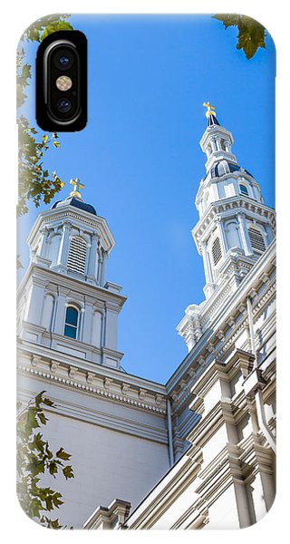 IPhone Case featuring the photograph Two Spires by Susan Leonard