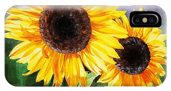 Two Suns Sunflowers IPhone Case