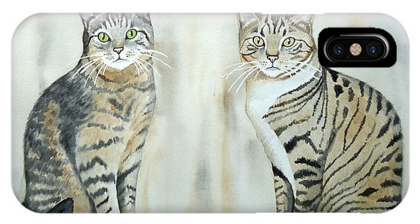 Two Tabby Cats IPhone Case