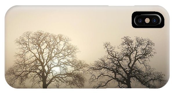 Two Trees In Fog IPhone Case