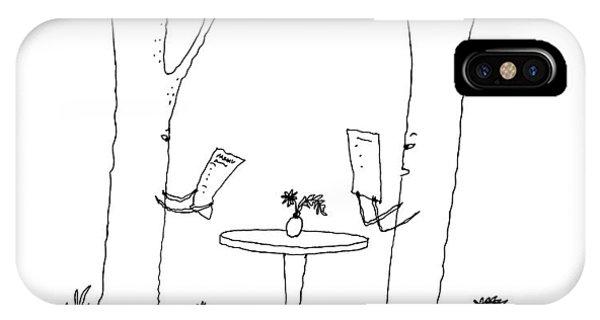 Two Trees Look At Restaurant Menus IPhone Case