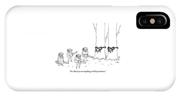 Two Trees With Groucho Marx Masks Speak To Three IPhone Case