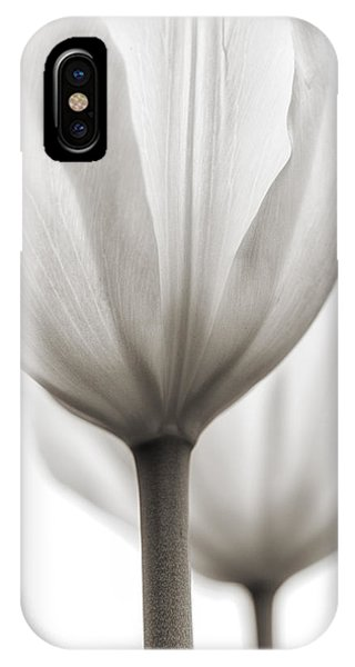 Two Tulips Bw 1 IPhone Case