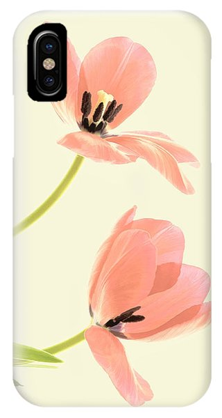 Two Tulips In Pink Transparency IPhone Case