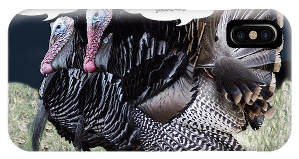 Two Turkeys Talking IPhone Case