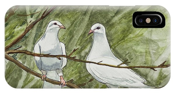 Two White Doves IPhone Case
