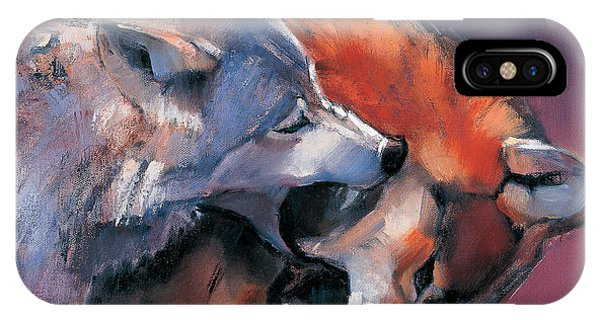 Wolf iPhone Case - Two Wolves by Mark Adlington