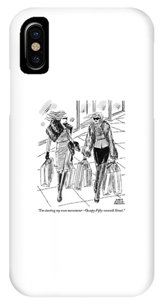 Protest iPhone Case - Two Women Dressed Nicely Walk Together Carrying by Marisa Acocella Marchetto