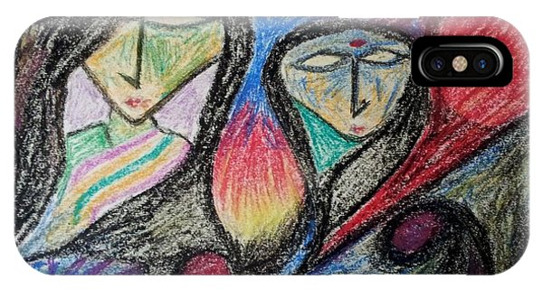 Two Women Phone Case by Hari Om Prakash