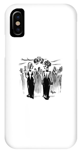 Two Women Wearing The Same Dress At A Cocktail IPhone Case