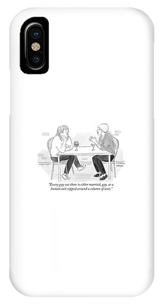 Two Women With Cocktails Talk At A Bar Table IPhone Case