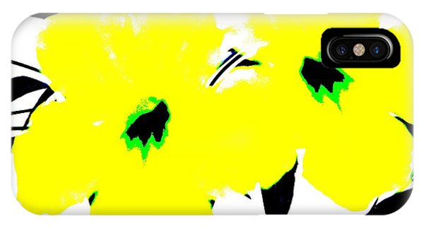 Two Yellow Jacks W Logo IPhone Case