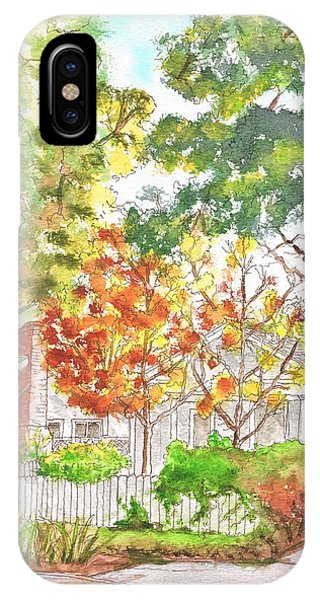 Two Yellow Trees In West Hollywood - California IPhone Case