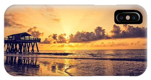 Tybee Island Pier IPhone Case