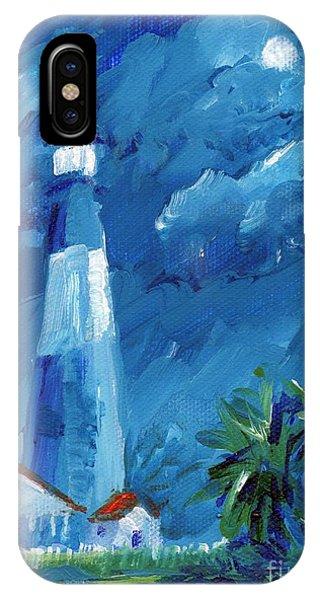 Tybee Lighthouse Night Mini IPhone Case