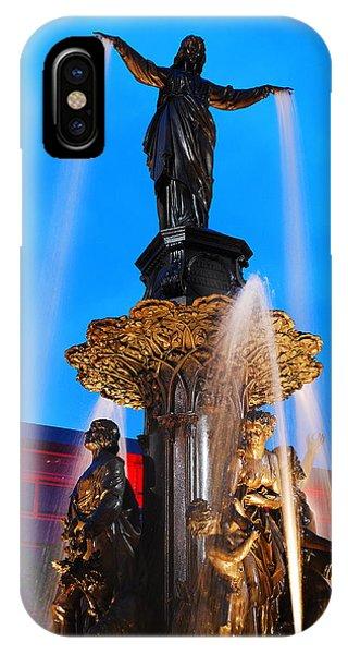Tyler Davidson Fountain IPhone Case