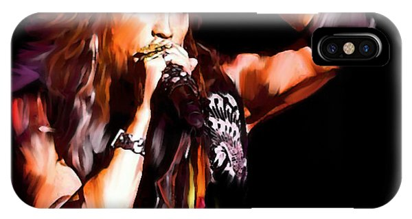 Steven Tyler iPhone Case -  Steven Tyler  Tyler II by Iconic Images Art Gallery David Pucciarelli