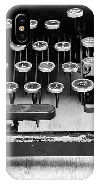 Edward iPhone Case - Typewriter Triptych Part 3 by Edward Fielding