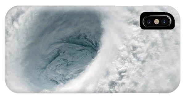 International Space Station iPhone Case - Typhoon Maysak by Nasa
