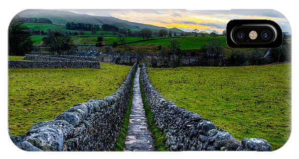 Typical Long Narrow Stone Country Walkway To A Small Village IPhone Case