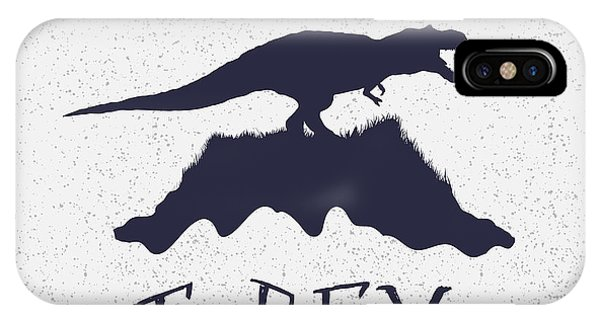 Cutout iPhone Case - Typography Label.angry Dinosaur On The by Dimonika