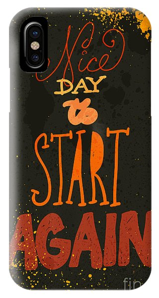Humor iPhone Case - Typography Vector Illustration With by Rayyy