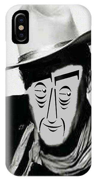 Typortraiture John Wayne IPhone Case