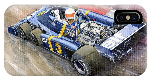 Elf iPhone Case - Tyrrell Ford Elf P34 F1 1976 Monaco Gp Jody Scheckter by Yuriy Shevchuk