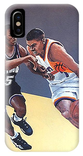 Tyus Edney And Kevin Johnson Phone Case by Paul Guyer