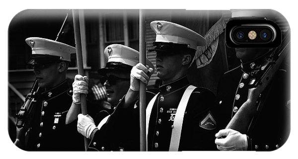 U. S. Marines - Monochrome IPhone Case