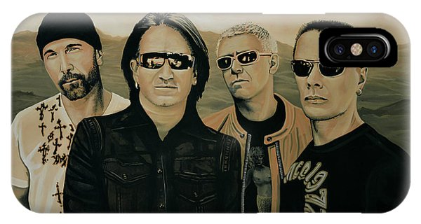 Haven iPhone Case - U2 Silver And Gold by Paul Meijering