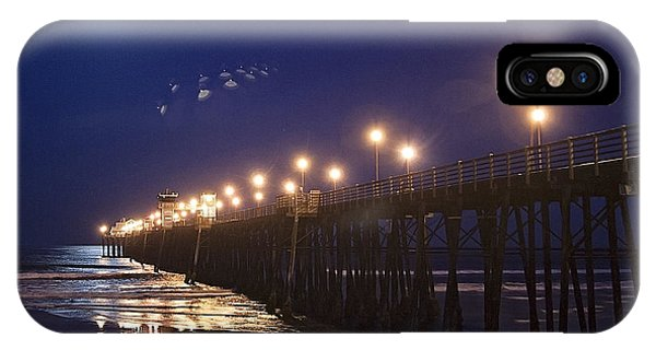 iPhone Case - Ufo's Over Oceanside Pier by Ann Patterson