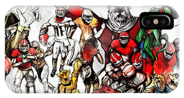 IPhone Case featuring the painting Uga Full Season Day Print by John Jr Gholson