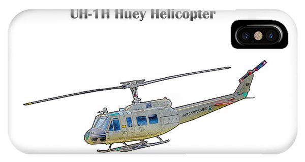Uh-ih Huey Helicopter IPhone Case