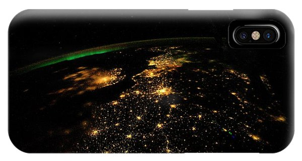 International Space Station iPhone Case - Uk And Europe At Night From Space by Nasa/science Photo Library
