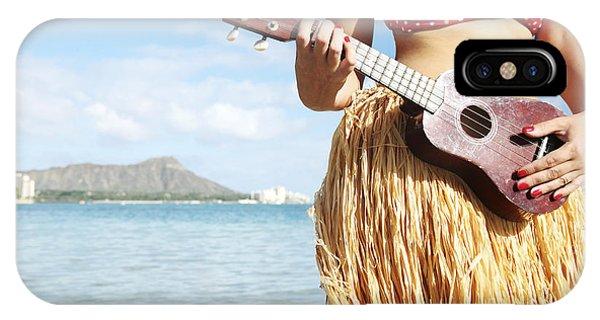 Hawaii iPhone Case - Ukulele Dancer by Brandon Tabiolo