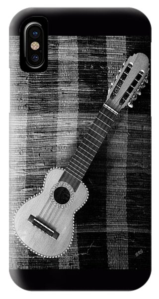 Ukulele Still Life In Black And White IPhone Case