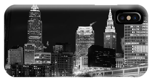 Ultra Rez Cleveland Black And White IPhone Case
