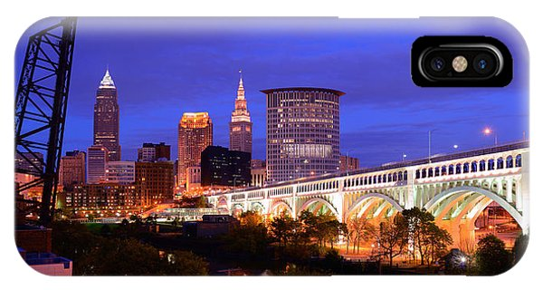 Ultra Rez Clevelands Best View Panorama  IPhone Case