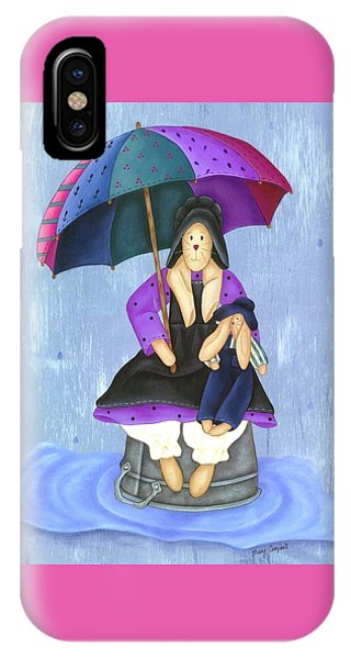 Umbrella Bunny IPhone Case